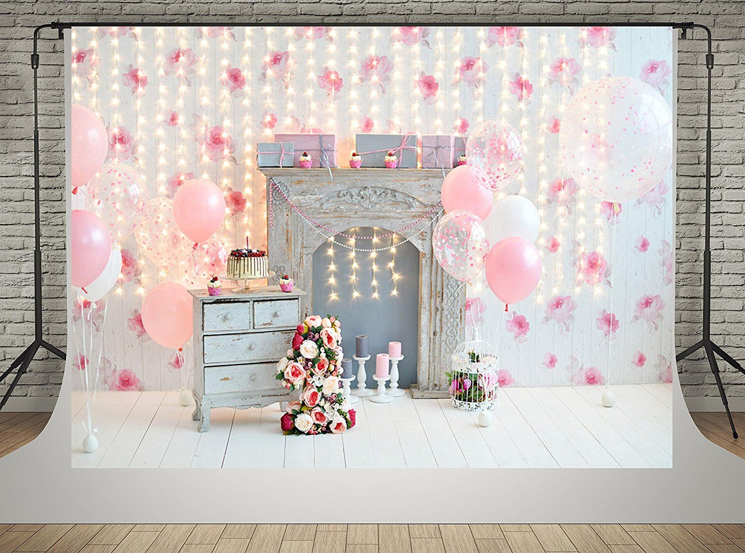 8x12 FT Birthday Vinyl Photography Backdrop,Cute Fox Sleeping on Dotted Backdrop with Greeting Happy Message Background for Party Home Decor Outdoorsy Theme Shoot Props