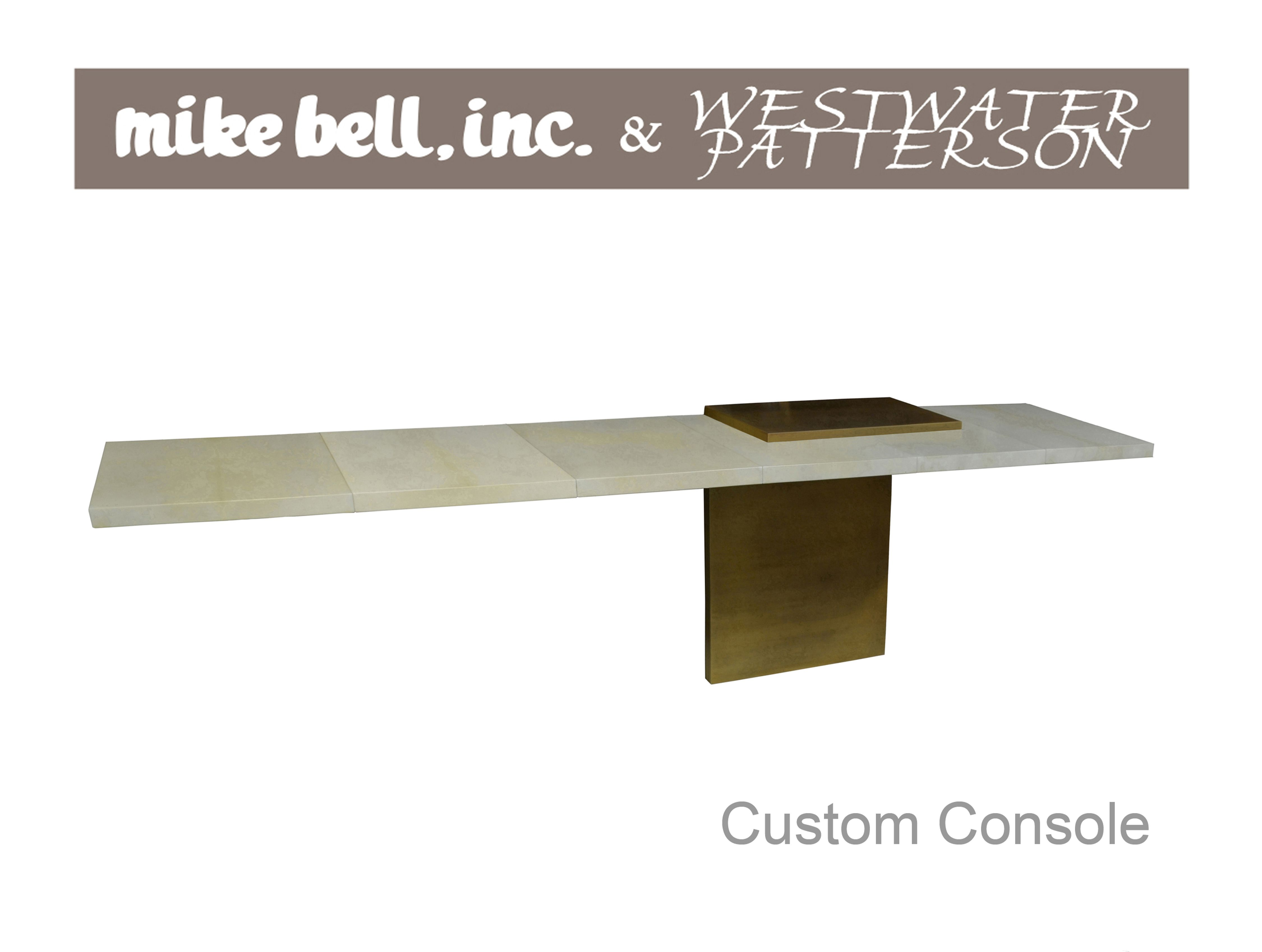 A stunning custom console design for a client.