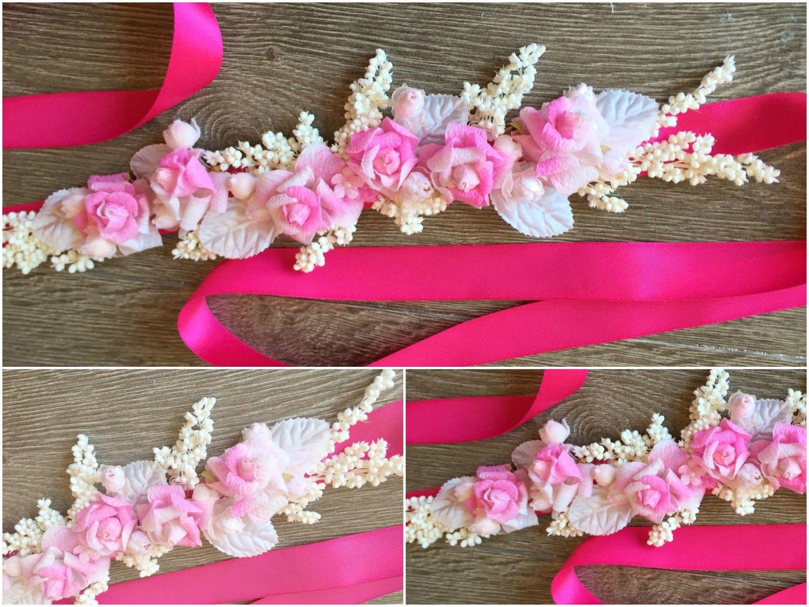 Más modelos de cinturones de flores | cinturones | Pinterest ...