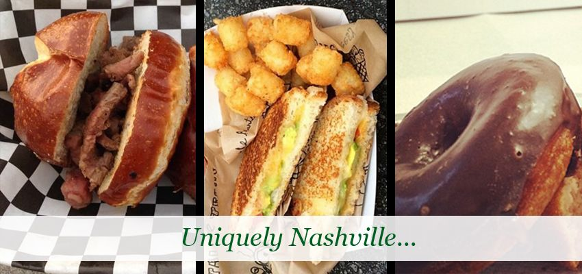 Food trucks like The Grilled Cheeserie, Bacon Nation and