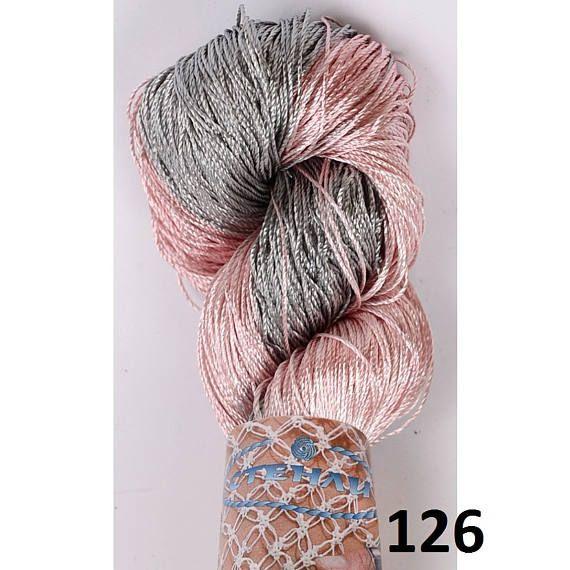 Multicolor Viscose SILK yarn, superfine , lace weight, bright ...