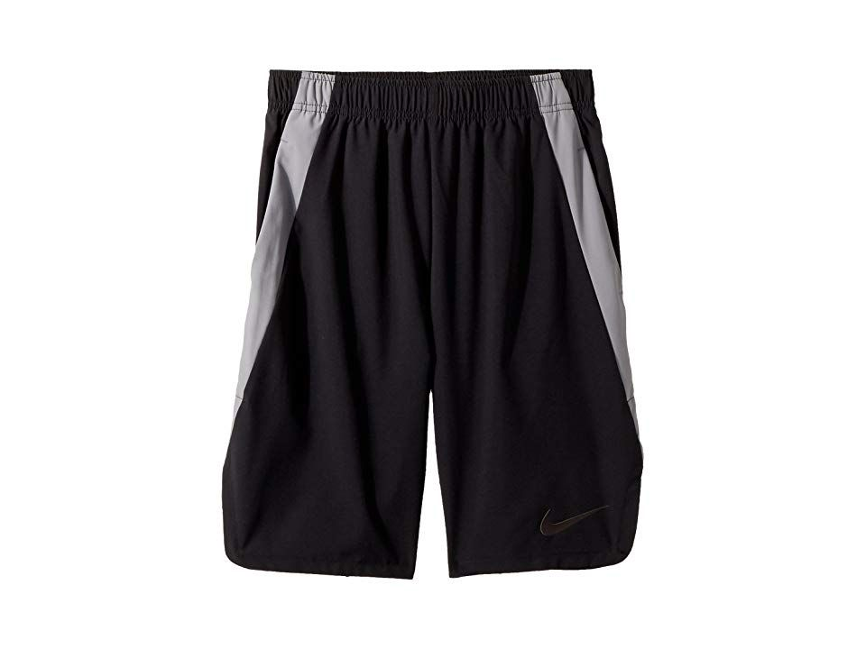 Nike Kids Vent Training Shorts Little KidsBig Kids BlackCool GreyBlack Boys Shorts Others may run with no purpose but hes all about accomplishing what he sets out to do S...