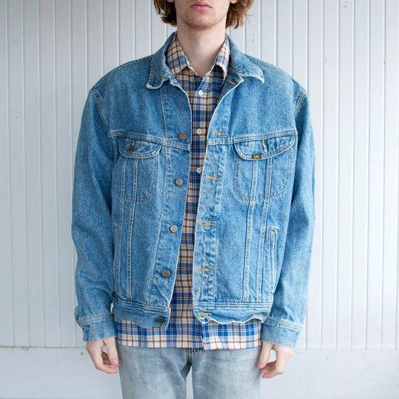 Vintage Oversized Lee Denim Jacket