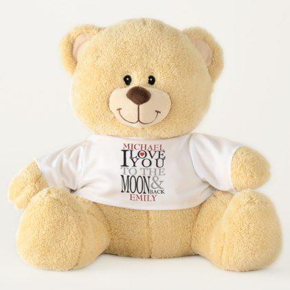 personalized teddybear love you till moon and back teddy bear bear
