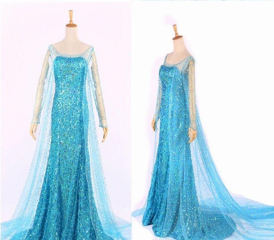 Frozen Snow Queen Princess Elsa Dress Halloween Costume Fancy Dress ...