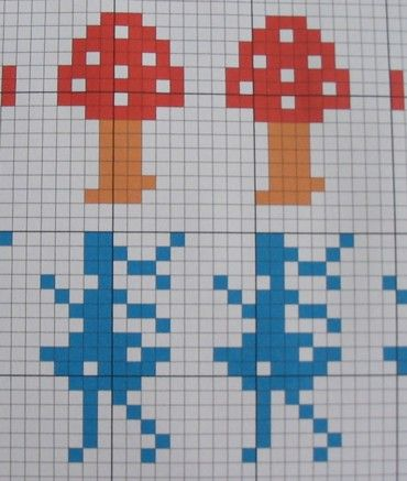 Girl and mushroom fair isle pattern | Fair isle pattern ...