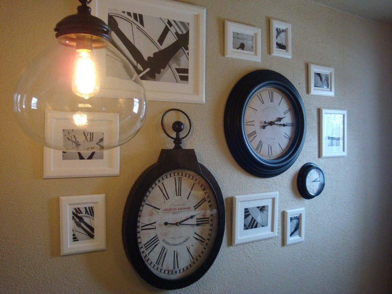 Good ideas for wall clocks eclectic wall collage pinterest