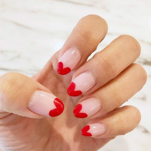 Queen of Hearts Valentines Day Nails