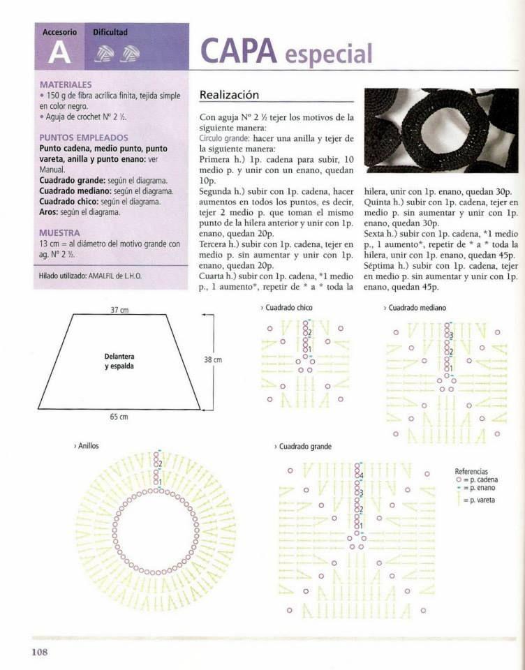 Capa Especial Figuras Geometricas Patron - Patrones Crochet ...