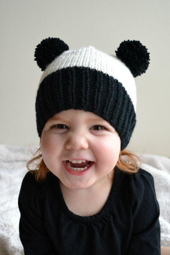Toddler Panda Hat Knit Panda Hat Toddler Size Ready To Ship