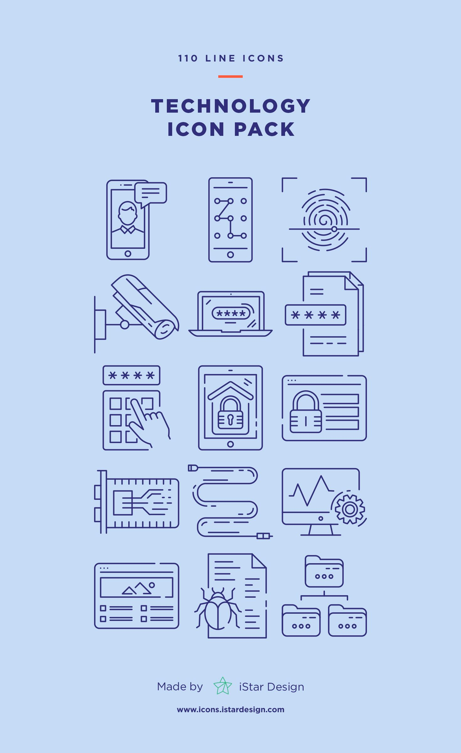 Download Technology Icons Set made by iStar Design. Series