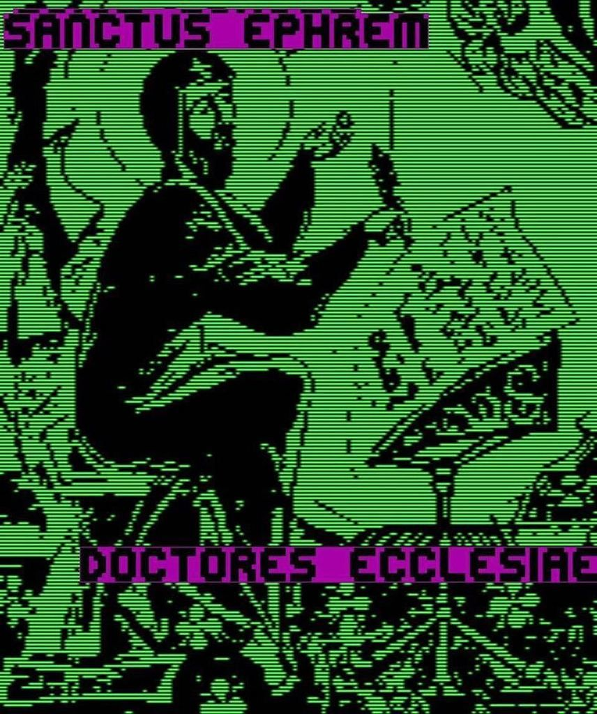 SANCTUS EPHREM https://t.co/eTSI1FcjMa -- tradwave | vaporwave | traditional catholicism