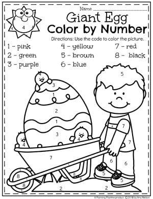 Easter Preschool Worksheets Color By Number Easter Coloring Page Easter Preschool Easte Easter Worksheets Easter Preschool Worksheets Preschool Activities