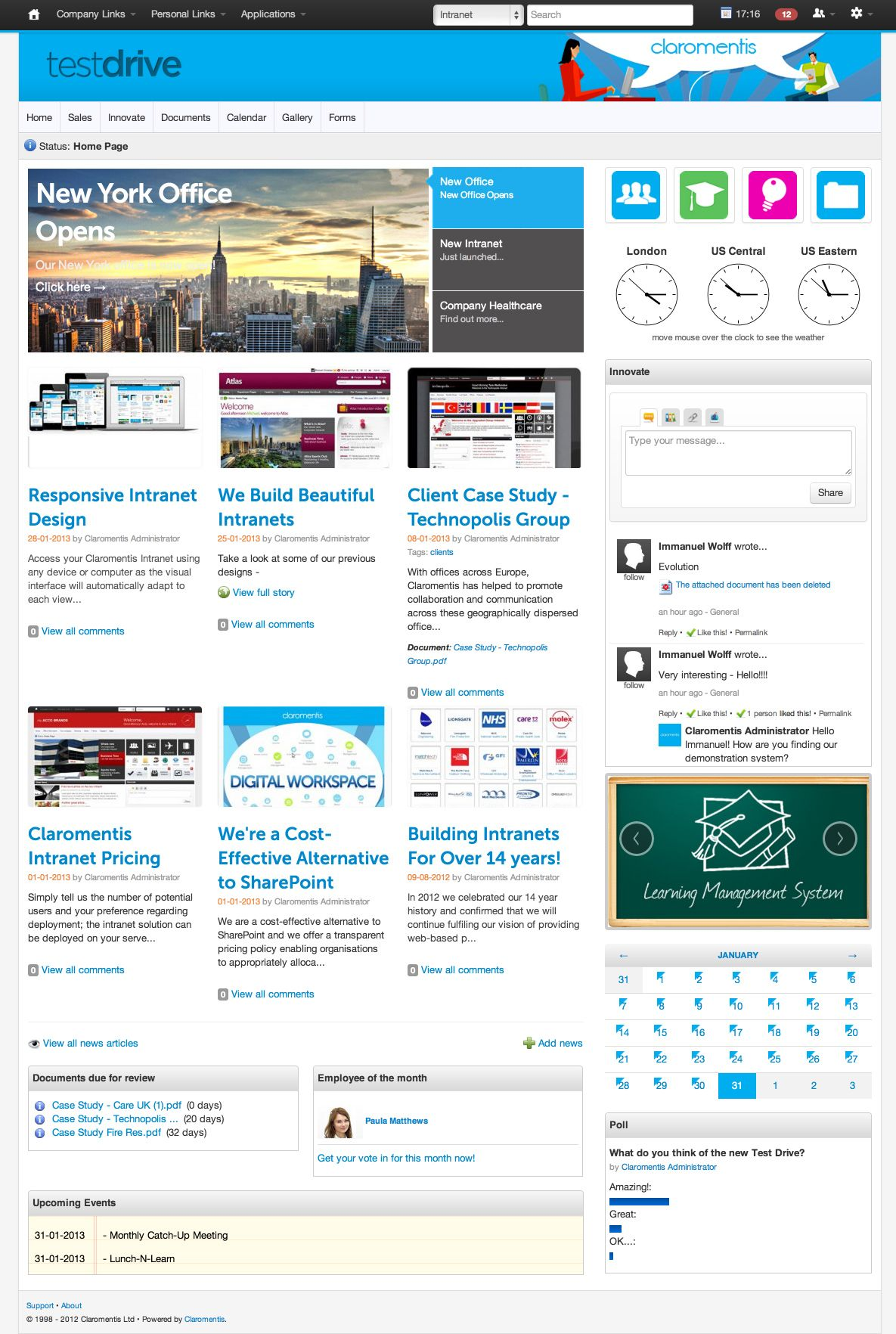 test drive intranet design1jpg 11851764 intranet inspiration pinterest ideas search and drive - Intranet Design Ideas