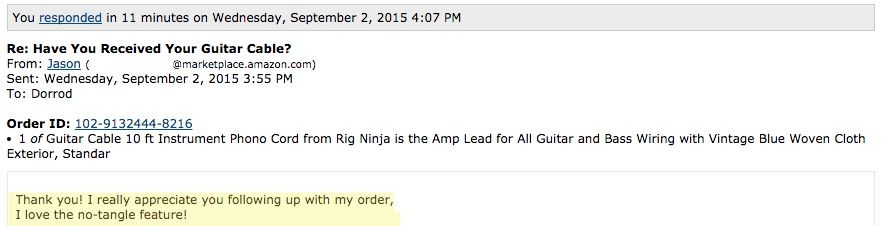 Customers Are Lovin The New Guitar Cable From Rig Ninja Http Www Amazon Com Instrument Rig Ninja Exterior Protective Dp B01 Guitar Cable Guitar Instruments