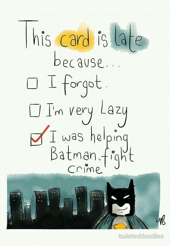 Batman Fighting Crime Belated Birthday Greetings Pinterest