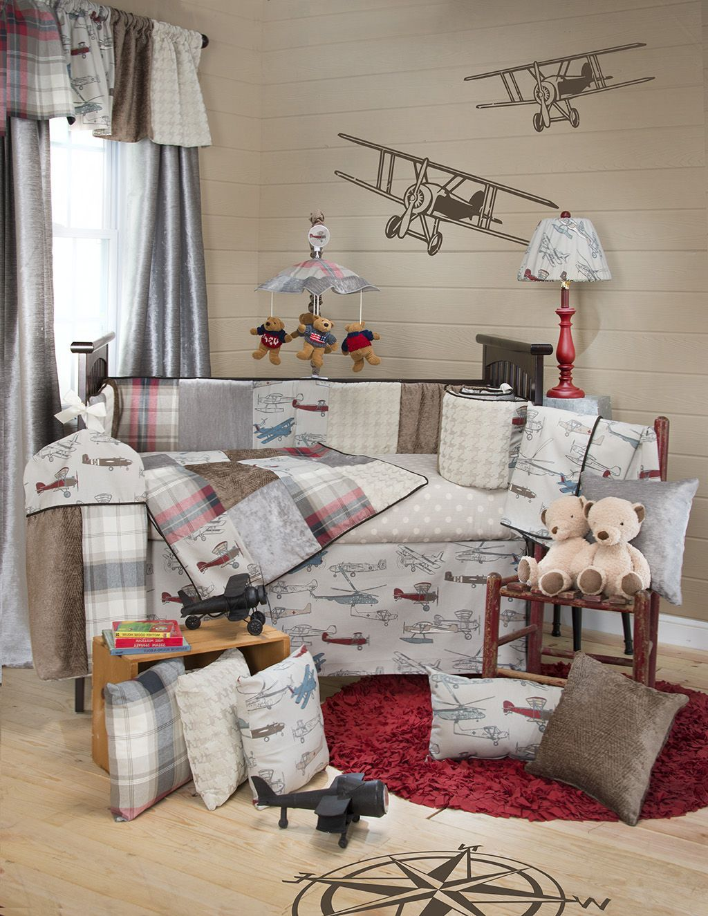 Amazing Boy Nursery: Bedroom , Accentuate Your Baby Boy Room With Cool Plane