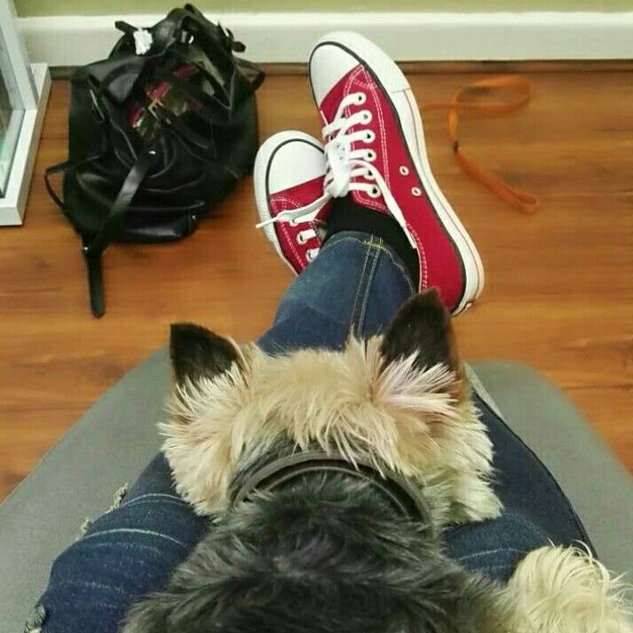 Leo and Claire waiting at the dentist