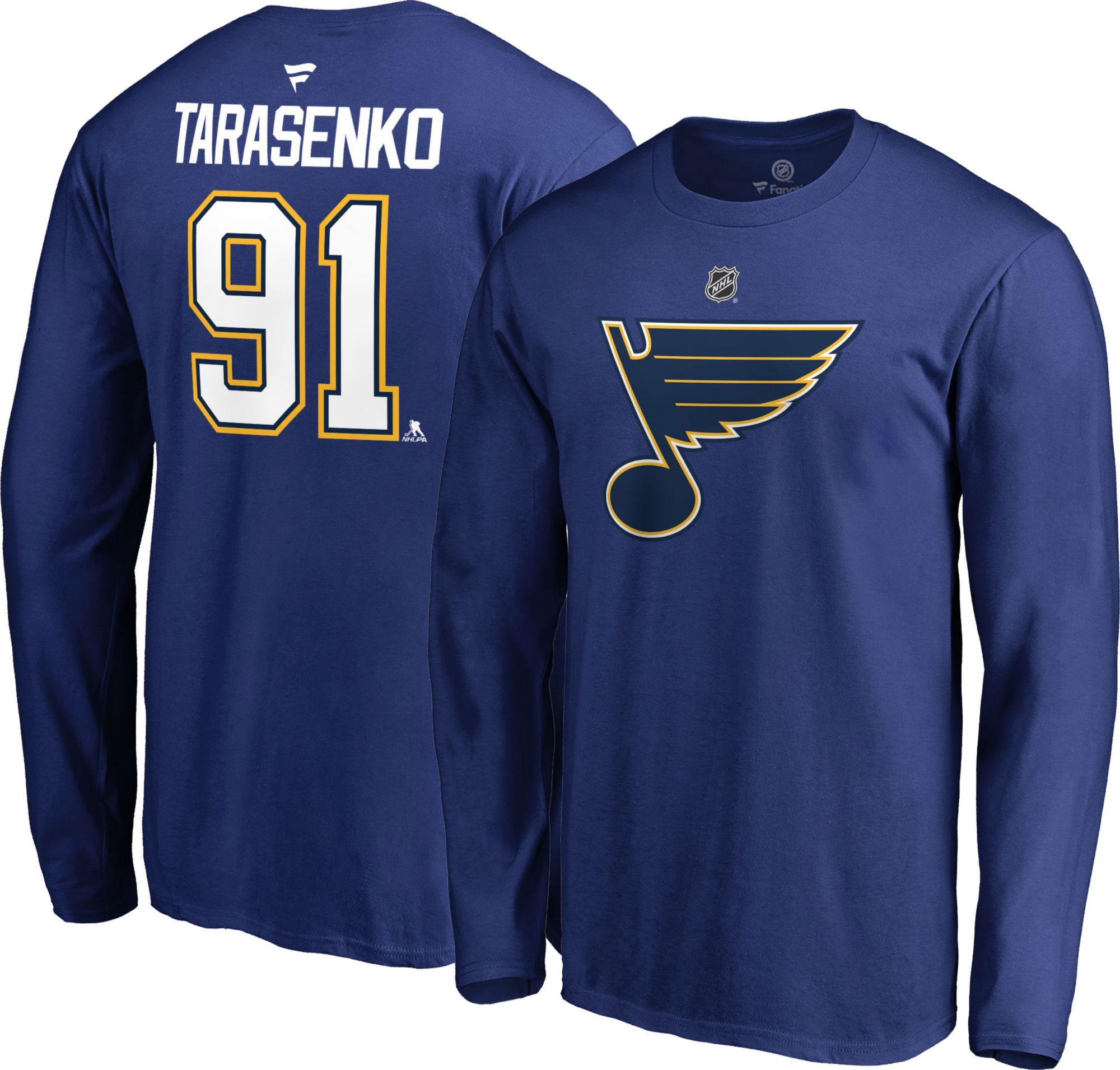 d8fe25abdd0 NHL Men's St. Louis Blues Vladimir Tarasenko #91 Royal Long Sleeve Player  Shirt, Blue