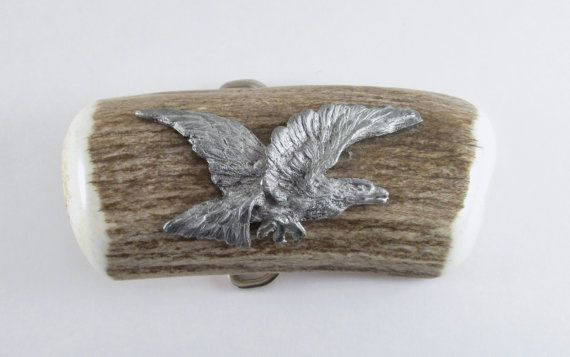 Eagle on Antler Belt Buckle, Vintage Eagle Belt Buckle, Men's Belt Buckle, Unique Gift For Men, Hunter's Belt Buckle
