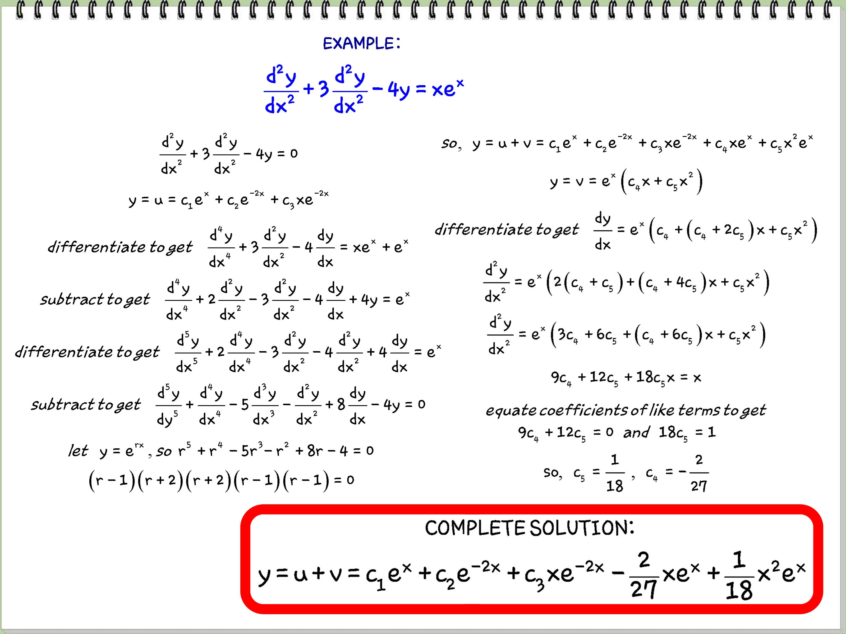 Solve Differential Equations