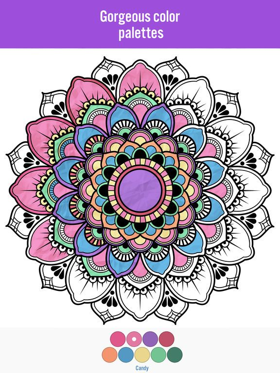 Image Result For Colorama Coloring Pages Already Colored Mandalas