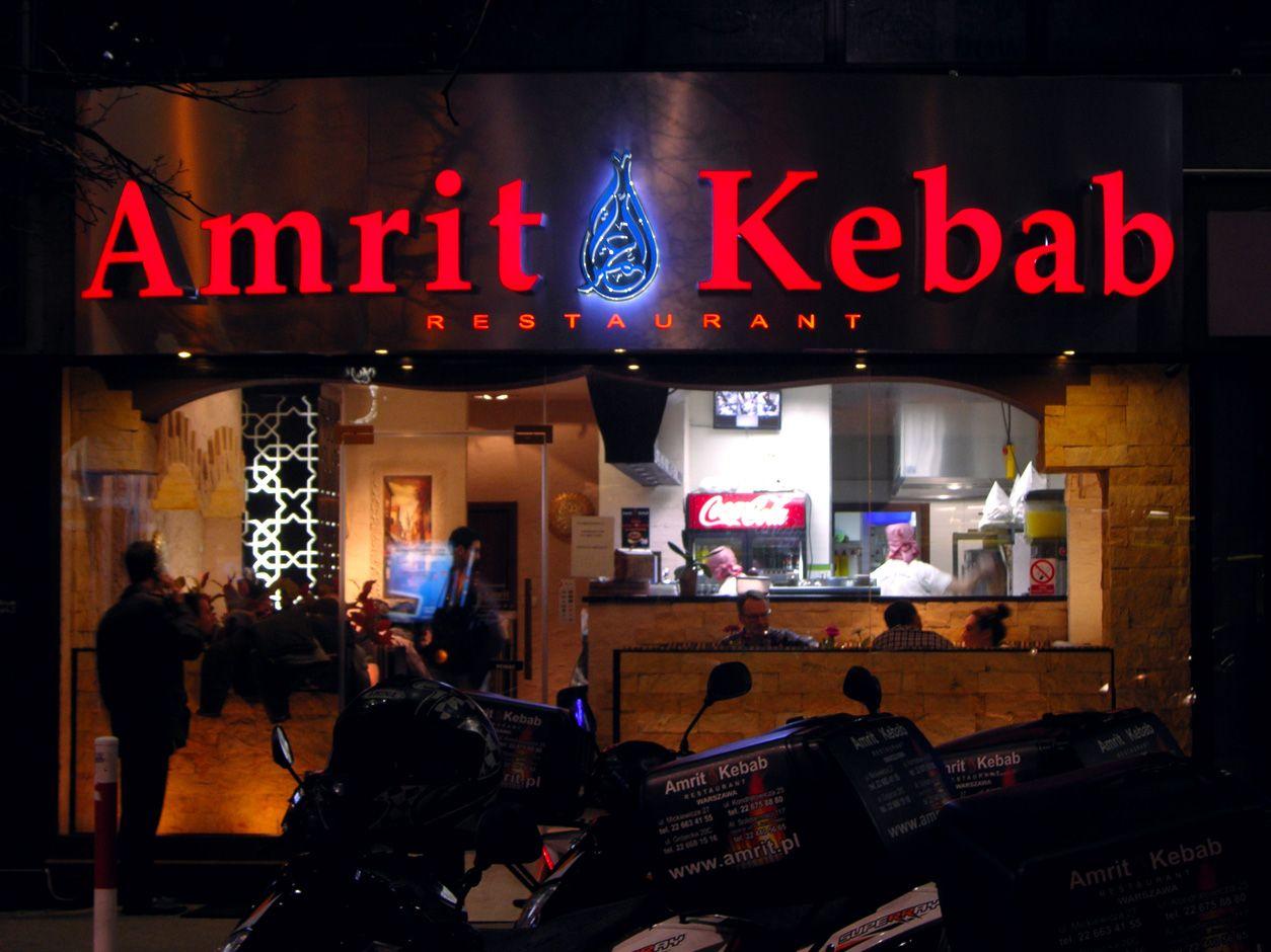 Litery Podświetlane w Warszawie - Amrit kebab