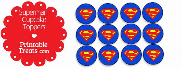 Free Printable Superman Cupcake Toppers Superman Cupcakes