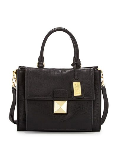Badgley Mischka Finnie Small Leather Tote Bag Black Badgleymischka Bags Shoulder