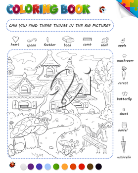 Coloring Book Game For Kids Setting Can You Find These Things In The Big Picture Coloring Books Big Picture Games For Kids