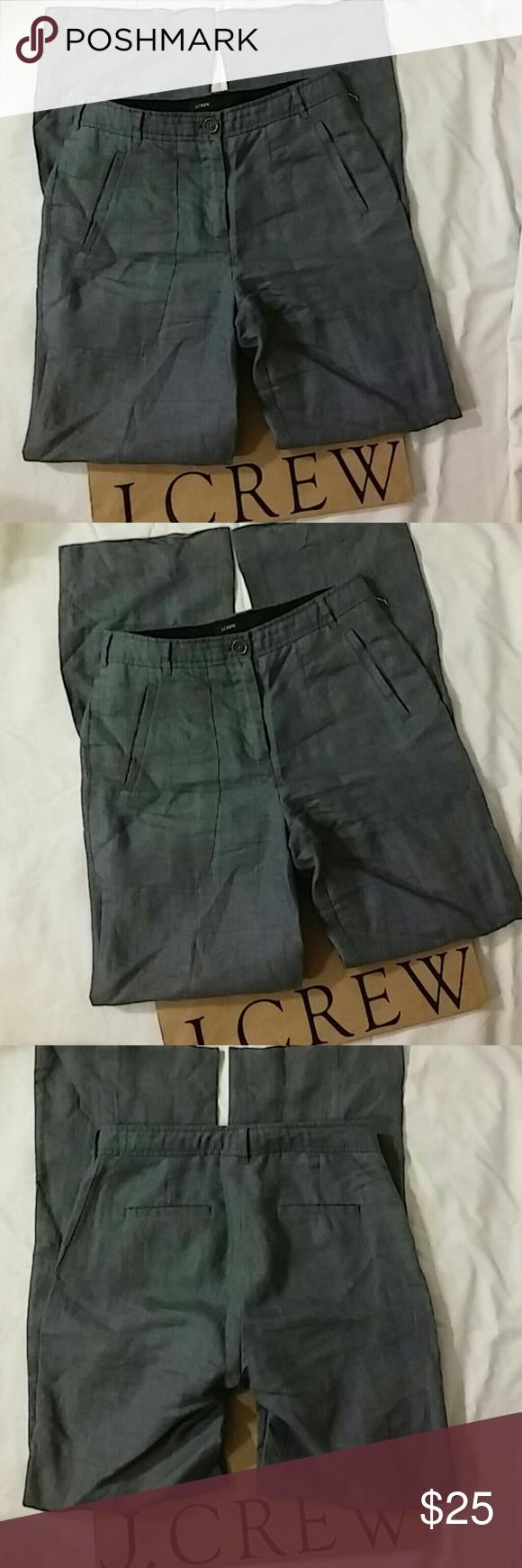 J Crew Linen Pants Size 2 Waist 14.5in. Inseam 33in. Length 42.5in 100% Linen J. Crew Pants Trousers