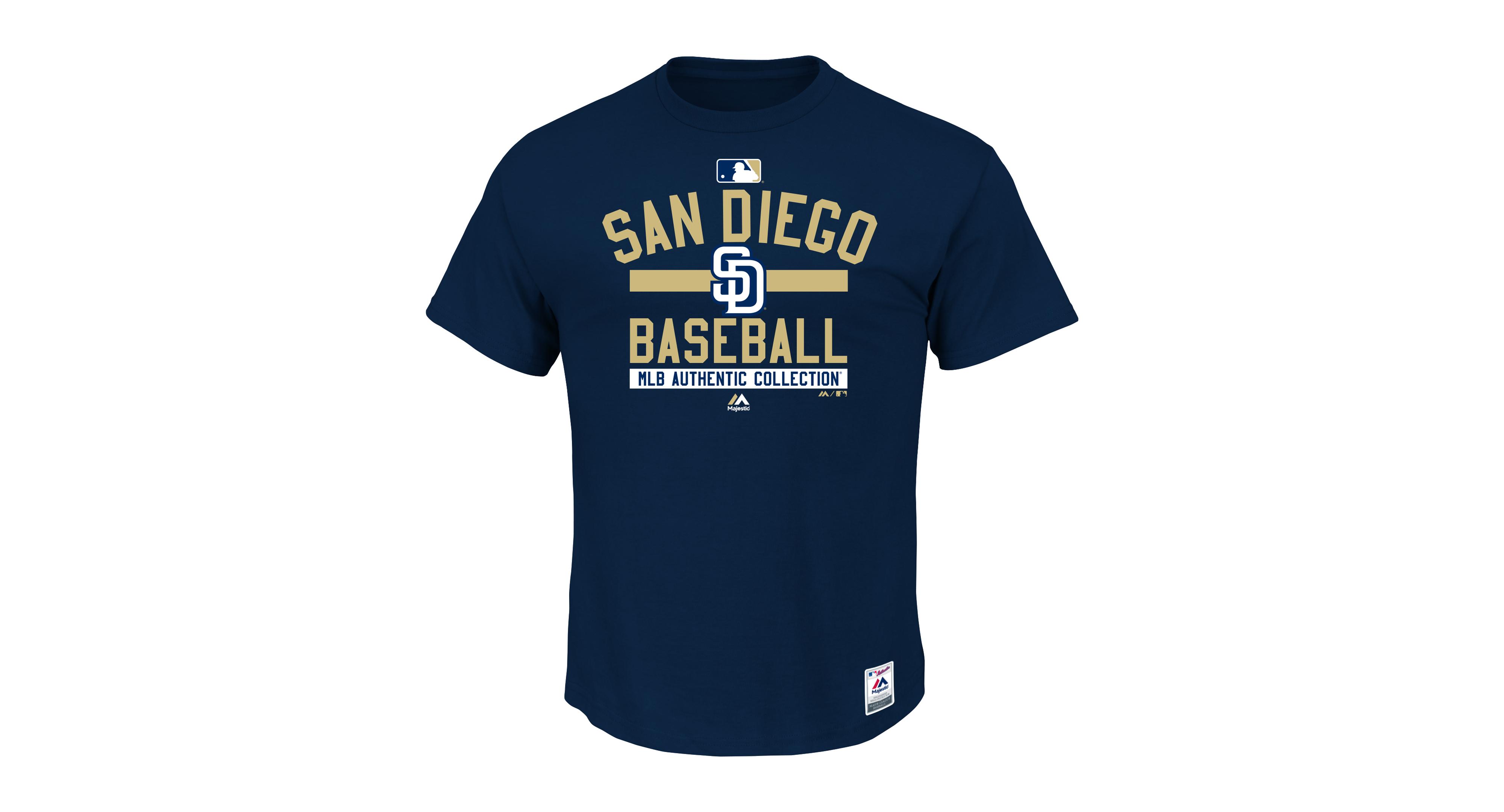 san francisco 3648f ac98a Majestic Men's San Diego Padres Team Property T-Shirt ...