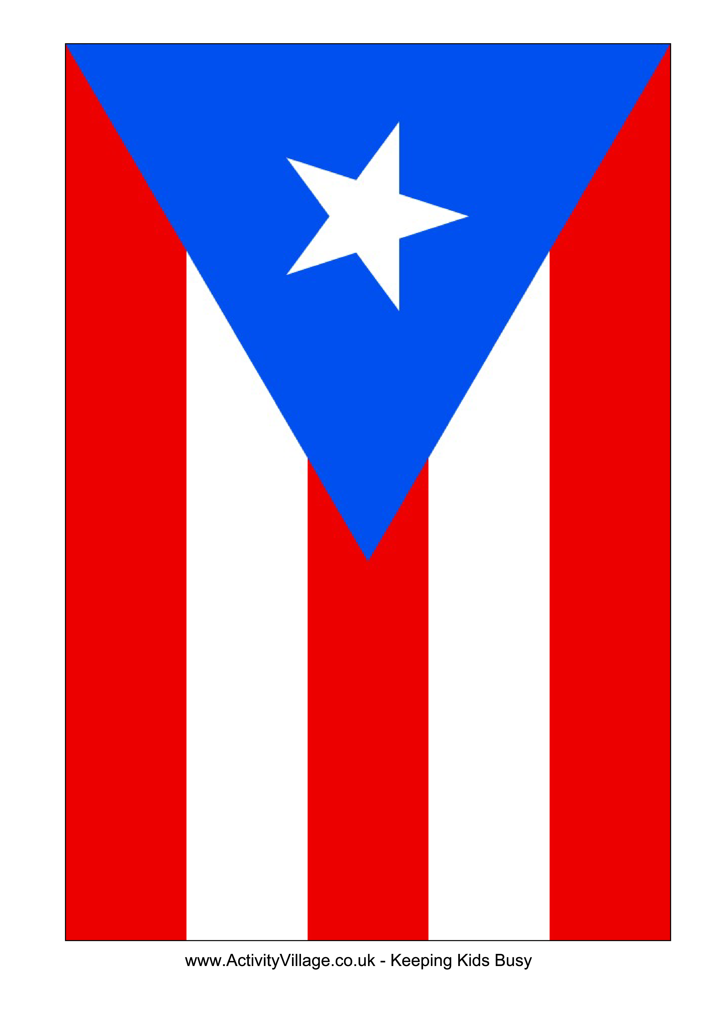 Download this free printable Puerto Rico template A4 flag A5 flag