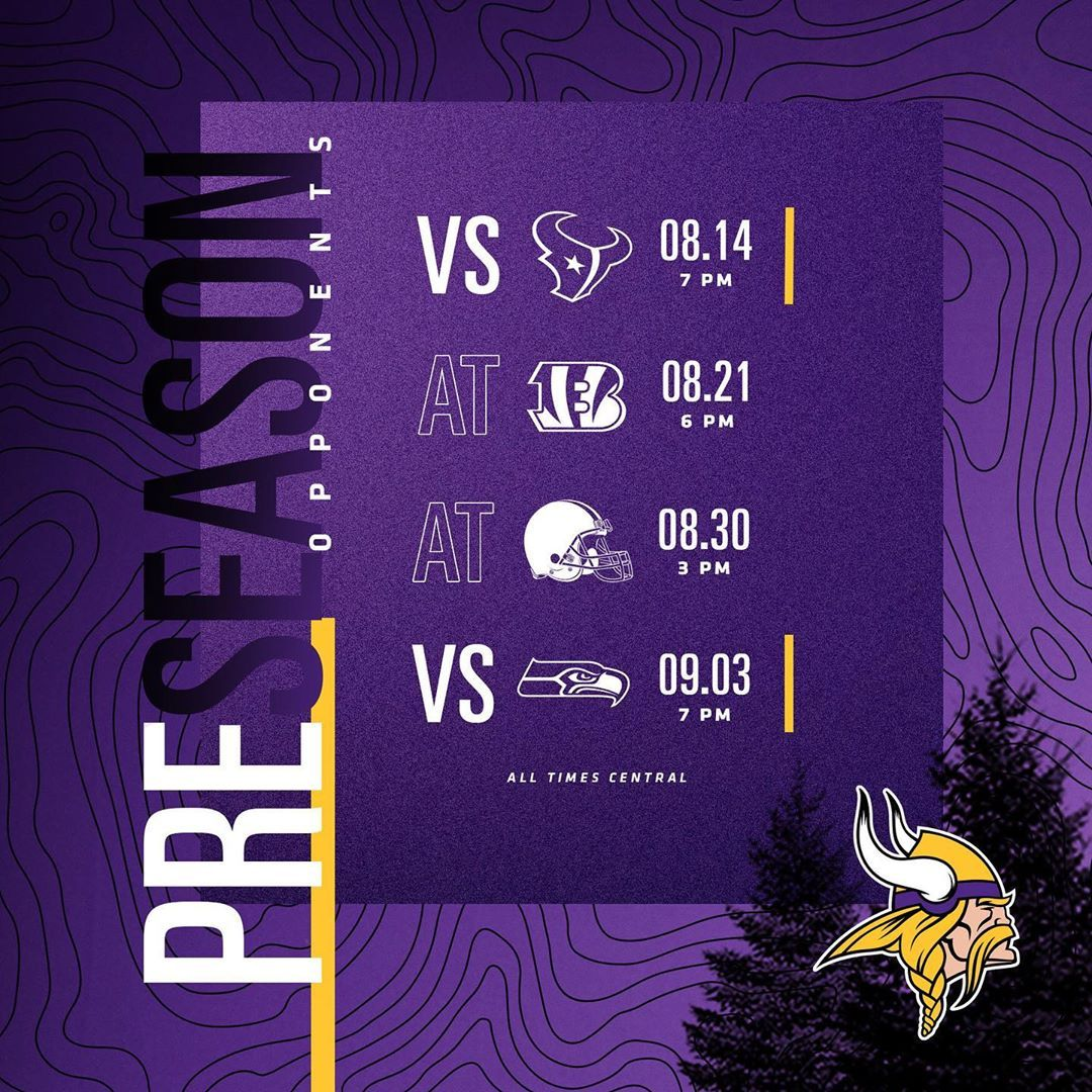 Preseason schedule is finalized. #Skol The post Minnesota Vikings: Preseason schedule is finalized. #Skol… appeared first on Raw Chili.
