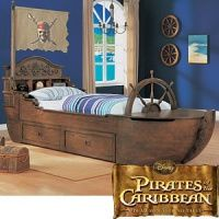 Pirate Ship Bed Boys Bedroom Makeover Twin Trundle Bed Pirate Room