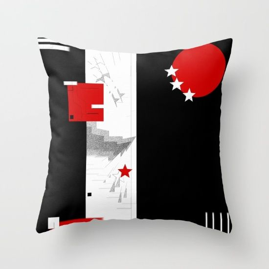 Buy black and white meets red Version 9 Throw Pillow by Christine baessler. Worldwide shipping available at Society6.com. Just one of millions of high quality products available.