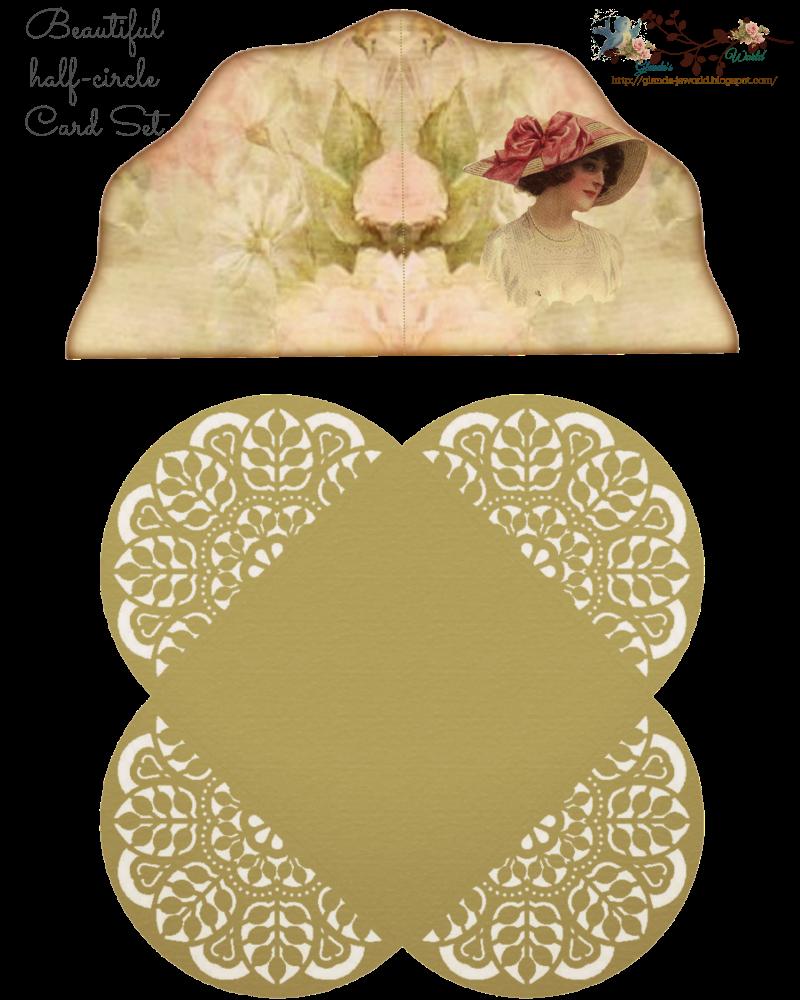 glenda's World : Pretty Universal Quarter-fold Card set