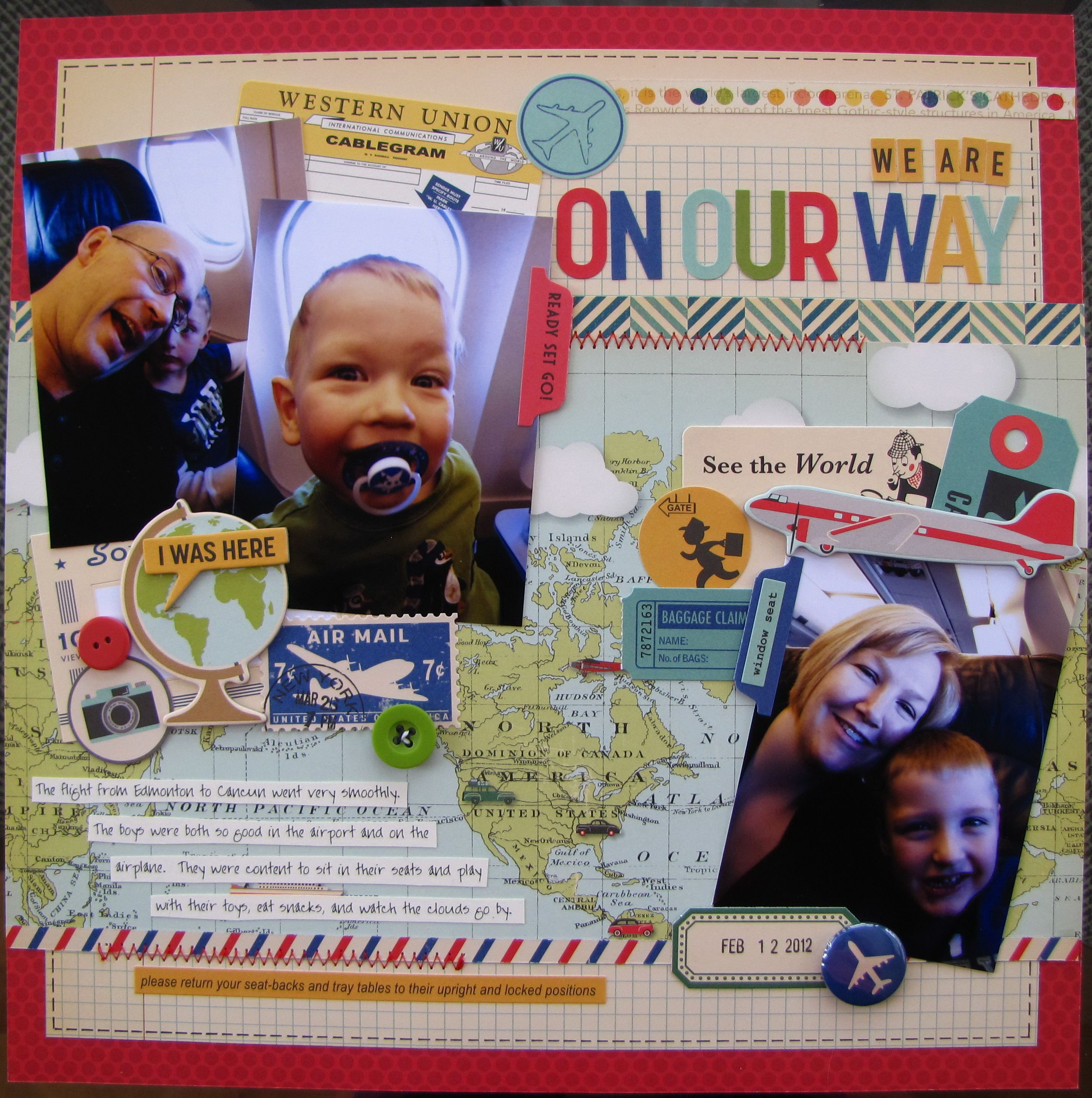 Scrapbook ideas airplane