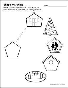 Shape Matching Activity Worksheet For Preschool