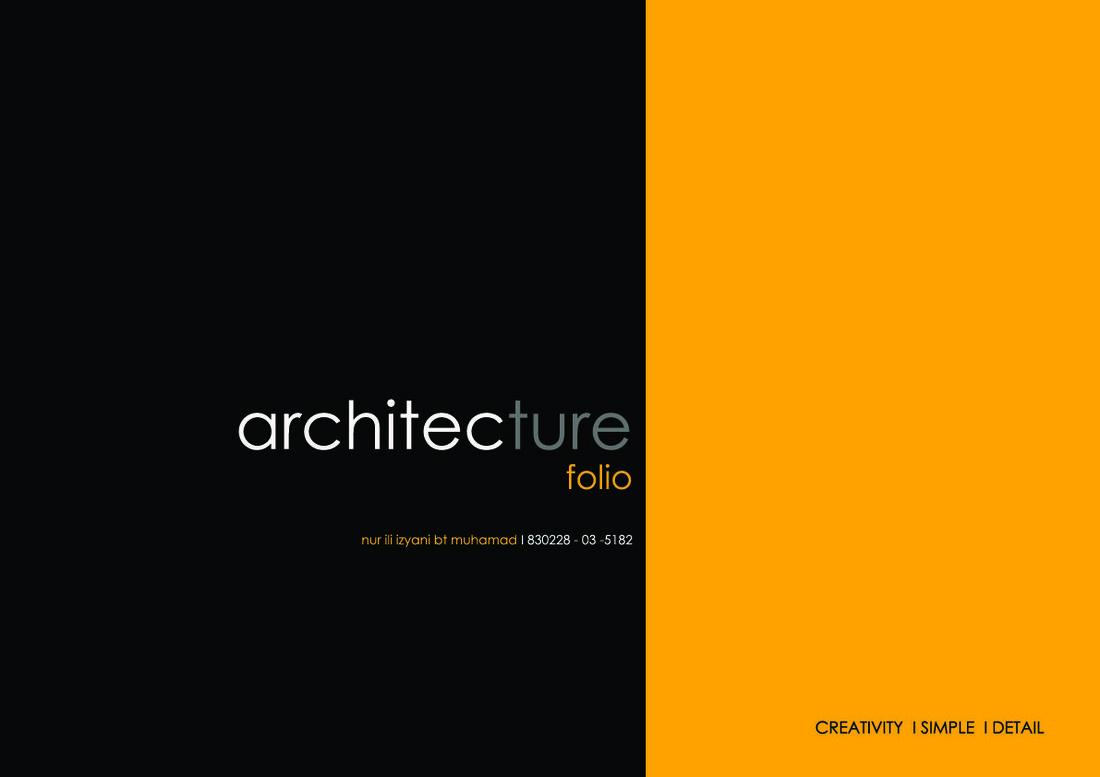 architecture design portfolio cover.  Design January 12th 2014 Ili 4 Ideas And Design On Architecture Portfolio Cover I