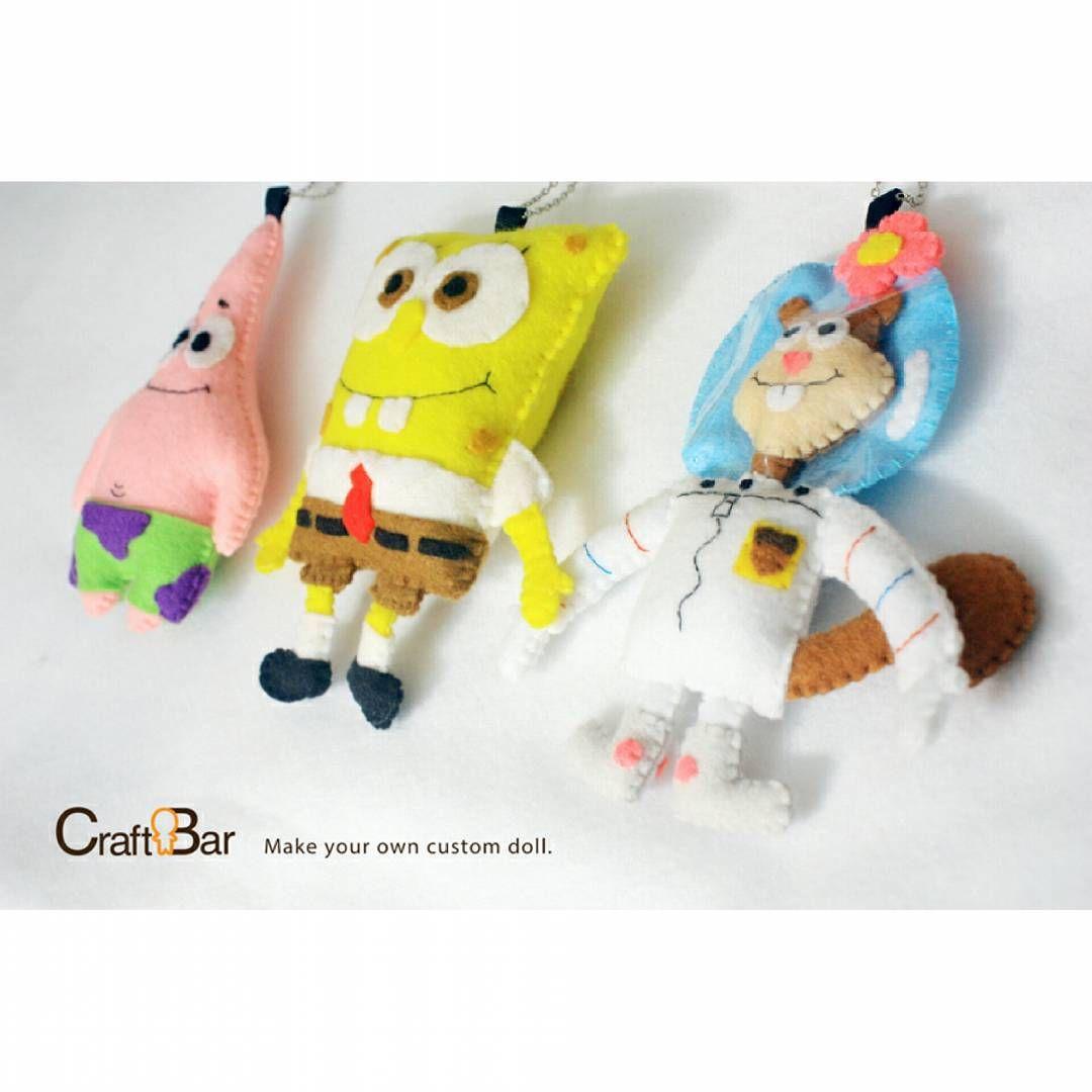 Spongebob, Patrick, and Sandy . #craftbar #craftbardoll ...