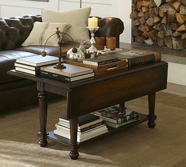 Avery Drop Leaf Coffee Table Potterybarn I Love These They Are So Versatile Sofa Table D Coffee Table Coffee Table Pottery Barn Living Room Coffee Table