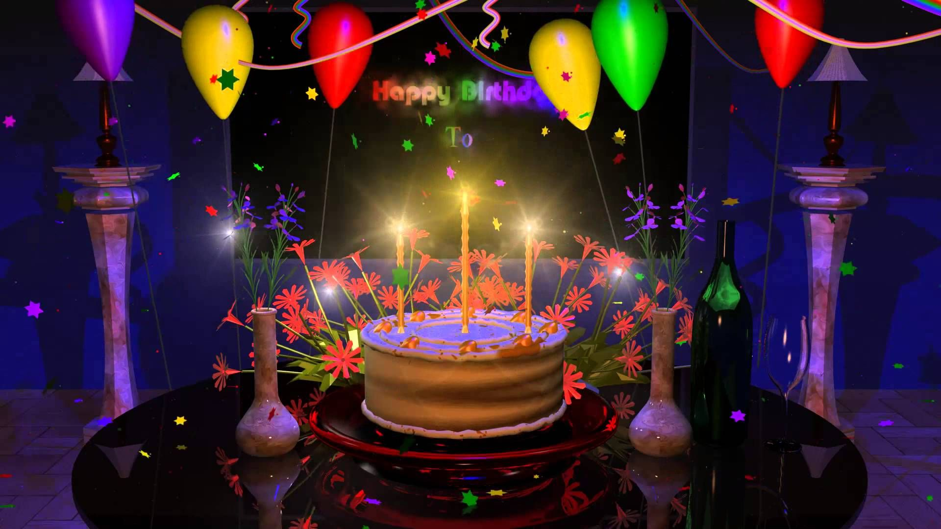 Happy Birthday Cake Presentation Animation Video Youtube With