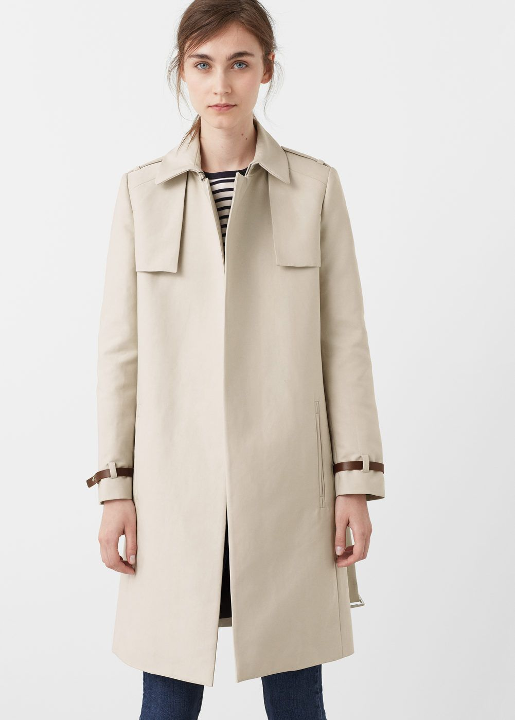 Venta barata buscar oficial originales Trench clásico algodón - Mujer   gabardinas   Abrigos, Moda ...