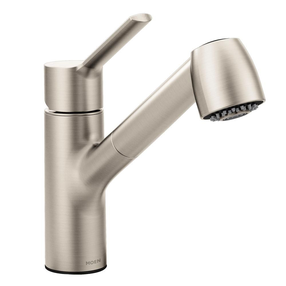 Moen Method Single Handle Pull Out Sprayer Kitchen Faucet With