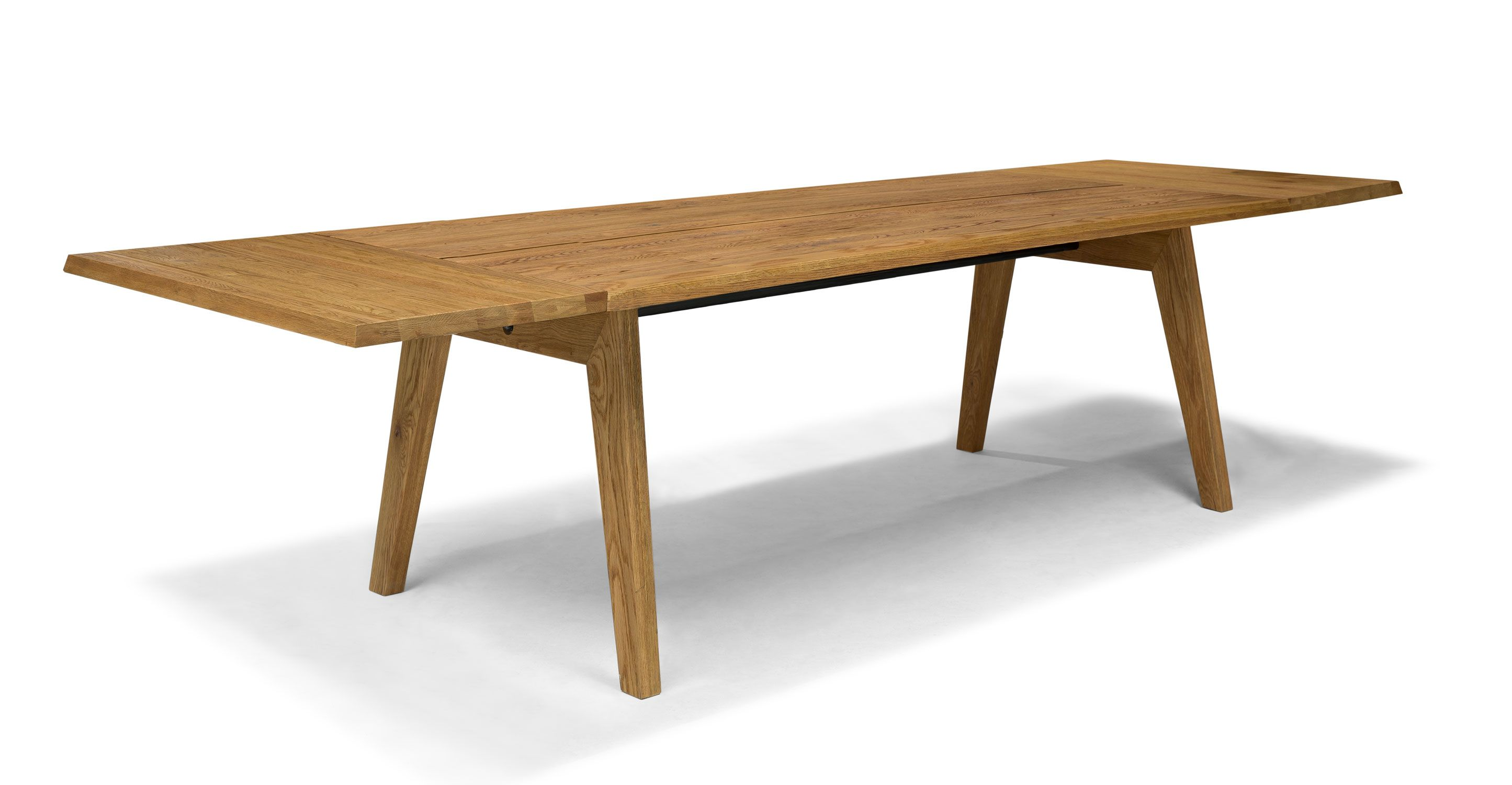 Modern Furniture Knockoffs extendable dining table for 12, solid wood | article madera modern