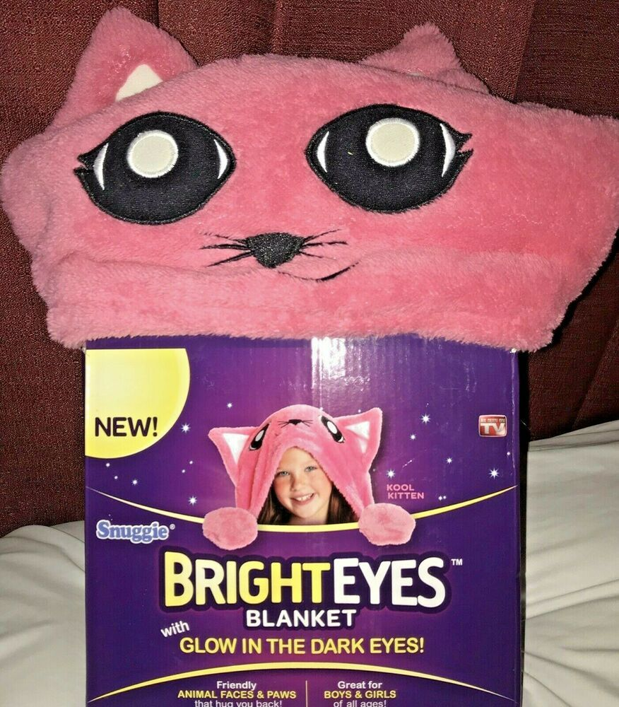 Bright Eyes Kool Kitten Blanket Cat Glow In The Dark Eyes Snuggie In 2020 Glow In The Dark Bright Eyes Dark Eyes