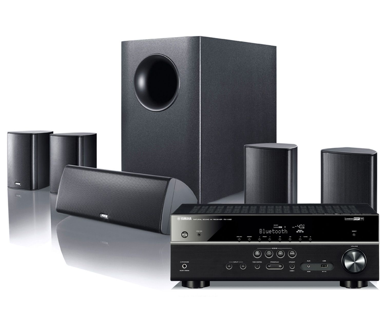 Yamaha Rxv481 Canton Movie 75 5 1 Speaker Package Excluding  # Meuble Tv Home Cinema Integre But
