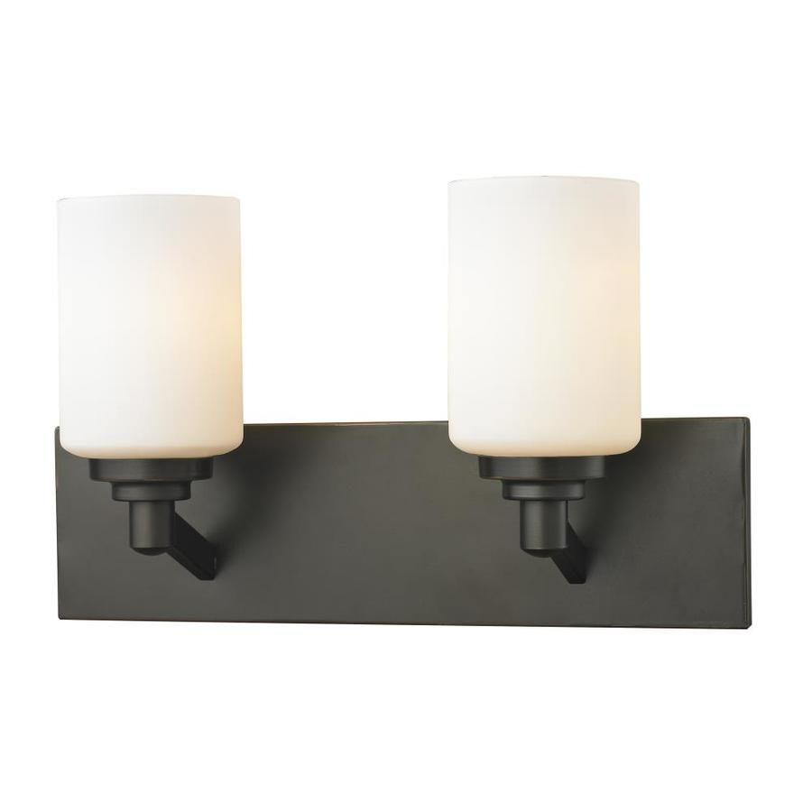 Photo of Z-Lite Montego 2-Light Bronze Transitional Vanity Light 411-2V