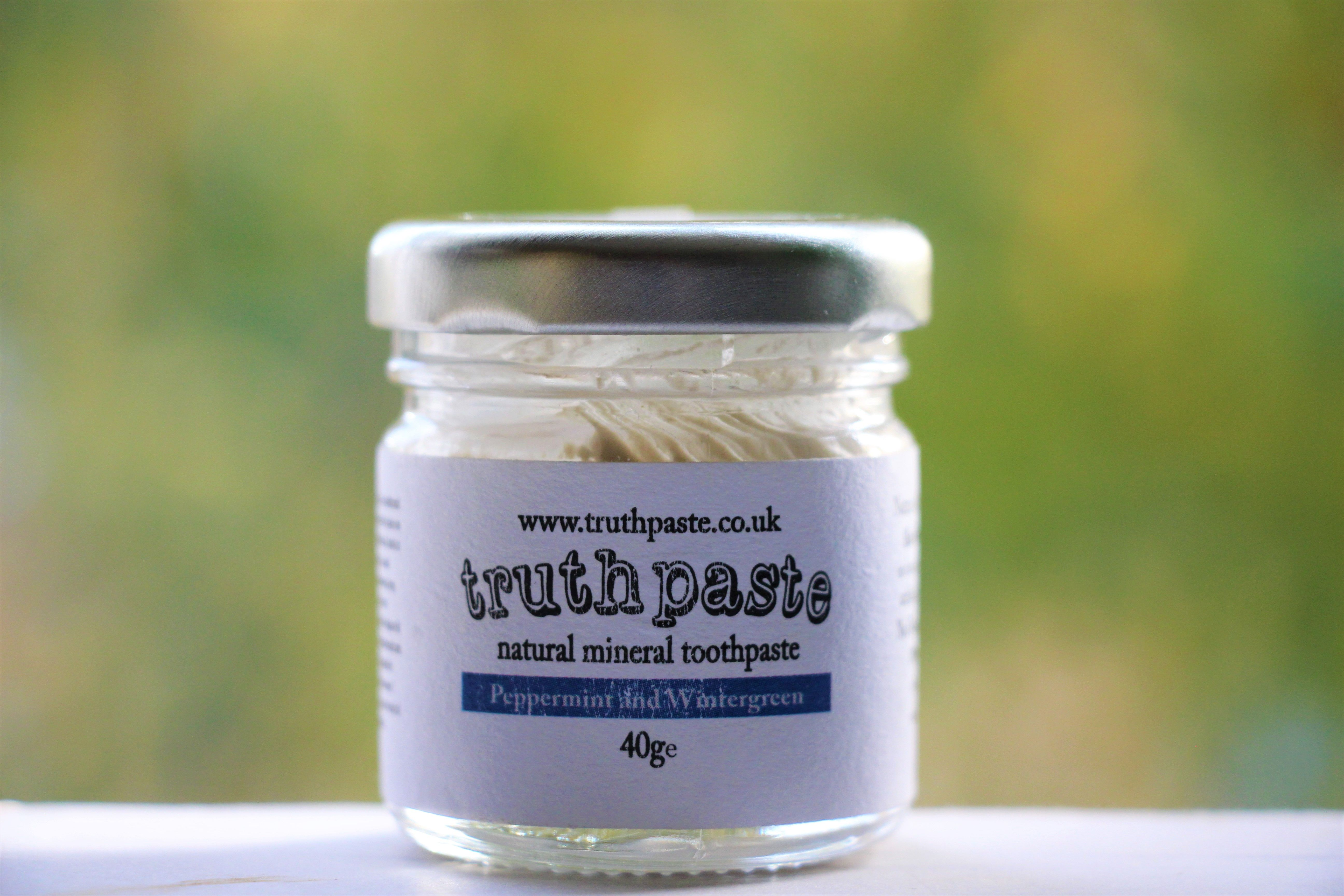 Peppermint and Wintergreen Natural Toothpaste Natural